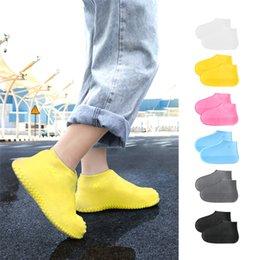Zapato zapatos impermeables cubierta de silicona Protectores de los cargadores de lluvia Coprizapatillas plegables Galoshes para Rainy al aire libre Días JK2001 en venta