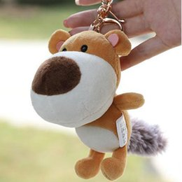 hang bear bag 2020 - Super Hot Novelty Bear Plush Soft Bag Hanging Key Chain Ring Hanging Plush Wedding Gift Bag Accessories discount hang be