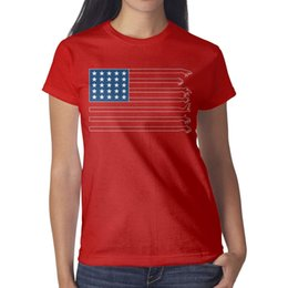 $enCountryForm.capitalKeyWord Australia - Womens design printing Red Dead Redemption Amerika flag red t shirt design funny cool crazy friends shirts awesome t shirt creator neon b