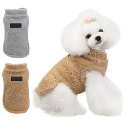 dog clothes xxl winter UK - Warm Pug Dog Clothes Cashmere Tops Fashion Autumn Winter Dog Down Costume Puppy Outfit Tops Size S-XXL