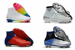 $enCountryForm.capitalKeyWord NZ - 2019 White Rainbow Original Soccer Cleats Mercurial Superfly V SX Neymar Soccer Shoes Top Quality Cristiano Ronaldo Football Boots c03