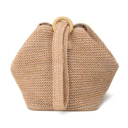 $enCountryForm.capitalKeyWord UK - Fashion Straw Crochet Clutch Bag Wrist Evening Purse Bag Summer  beach bag party bags