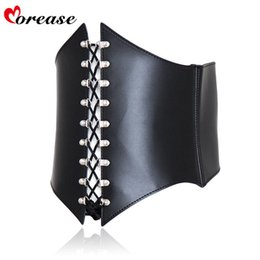 Wholesale Morease Adult bdsm bondage sexy adjustable waist training croset tops sex toys for female fetish chastity belt Y18110802