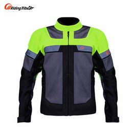Jacket Motorcycle Nylons Australia - Riding Tribe Breathable Reflect Racing Summer Jackets and Pants,Motorcycle Waterproof Jackets Suits Trousers, JK42