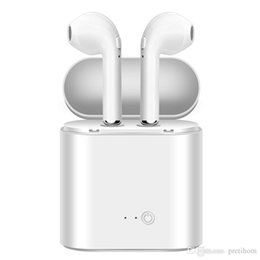 Iphone Stereo Mic Australia - wholesale i7s TWS Wireless Bluetooth Headphones with Mic Stereo Earbuds In-Ear i7s Twins Earphones for iPhone XR XS MAX X 8 Samsung Huawei