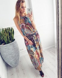 b8026e20e5 New fashion Women's dress Amazon WISH Summer Money Explosion in Europe and  America Bohemian Ocean Wind Printed Beach Dresses