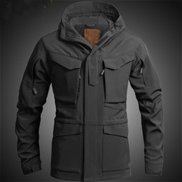 Wholesale m65 military jackets for sale - Group buy US UK M65 Outdoor Windbreaker Jacket with Inner Soft Shell Men Windbreaker Jacket Combat Tactical Military Thicken Winter Jacket T190919