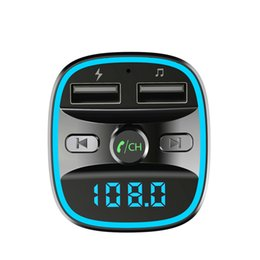 usb music player display UK - FM Transmitter Multifunction 4-in-1 Car Kit Bluetooth 5.0 Aux Modulator MP3 Music Player TF Radio Transmitter with LCD Display 2 USB Charger