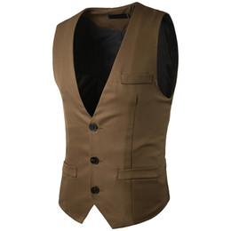 $enCountryForm.capitalKeyWord UK - Men Vest 2017 Brand Male Waistcoat England Slim Fit Wedding Business Men Suit Vest Solid Color Groom Groomsmen Singer Clothes