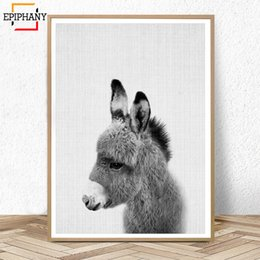 kids canvas wall art Australia - Donkey Print Nursery Animal Wall Art Baby Shower Gift Kids Room Posters and Prints Cute Anime Poster Nordic Canvas Painting