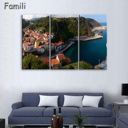 Spray Painting House UK - 2019Unframed Fashion 3Panel House Modern Wall Art HD Picture Canvas Print Canvas Painting For Living Room Picture