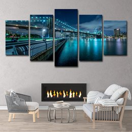 $enCountryForm.capitalKeyWord Australia - 5 Piece HD Printed New York City Painting on Canvas Room Home Decoration Print Poster Picture Canvas Free Shipping
