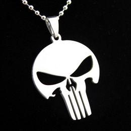 $enCountryForm.capitalKeyWord Australia - 2016 Movie Necklace Punisher Personality Design Skull Pendant Stainless Steel For Women & Men