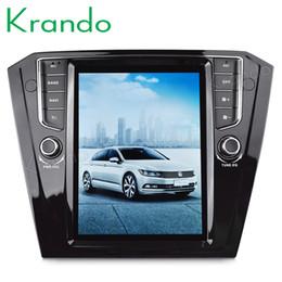 "Passat Cc Gps UK - Krando Android 7.1 10.4"" Tesla Vertical touch screen car dvd radio player for VW B8 Passat 2015+ multimedia player with gps"