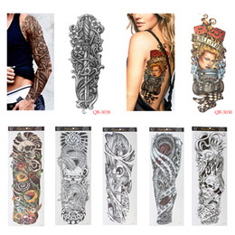 girls tattoo art Australia - 1 Pcs Temporary Tattoo Waterproof Sticker Nun Girl Pray Design Full Flower Arm Body Art Beckham Big Large Fake Tattoo Sticker