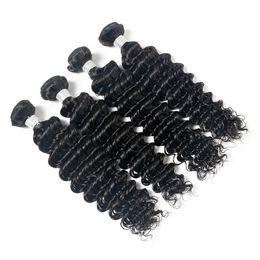 Queen Brazilian Deep Wave Hair UK - Lucky Queen Grade 8A Brazilian Deep Wave Human Hair Bundles 100% Unprocessed Brazilian Deep Wave 3 Bundles Brazilian Human Hair Weaves
