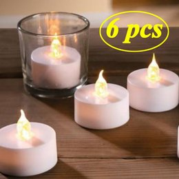 Home Decor 1 Pc Simulation Candle Creative Luminous Multicolor Romantic Tea Light Led Lamp For Wedding Party Home Birthday