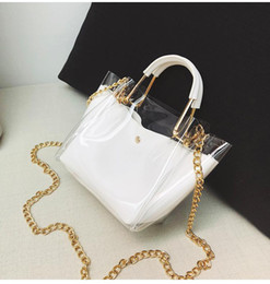 7573a60ab0 Clear tote bag purse online shopping - Women Transparent Handbag PVC PU  Shoulder Bag Jelly Female