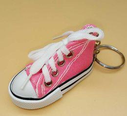 $enCountryForm.capitalKeyWord Australia - DHL Mini 3D Sneaker Keychain Canvas Shoes Key Ring Tennis Shoe Keychain Event Party Favor 8*3.5*4cm