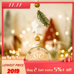 lighting trees decorative home Australia - Christmas Decoration Decorative Light Crafts Pendant Personal Home Wooden Christmas Tree With Light Ornaments Adornos De Navidad