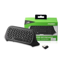 Wireless Controllers For Xbox One Australia - Wireless Keyboard For XBox One Mini Wireless 2.4GHz Keyboard Keypad Online Chat Pad Controller USB Receiver Game Accessory