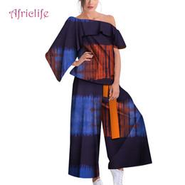$enCountryForm.capitalKeyWord NZ - African Fashion Ladies 2pcs Short Sleeve Clothes Sets Cotton Fabric Lining Material Fashion Casual Dress Lady Clothing WY4745