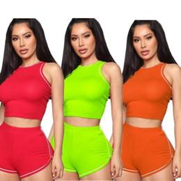 $enCountryForm.capitalKeyWord Australia - women designer tracksuit sleeveless outfits hoodie legging 2 piece set skinny sweatshirt tights sport suit pullover pants klw1680