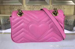 $enCountryForm.capitalKeyWord Australia - Womens Quality 446744 22cm Marmont Matelassé Leather Shoulder Bag,Sliding chain strap,Flap spring closure,Come with Box Dust Bag
