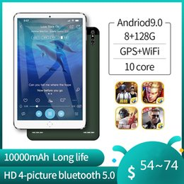 New 10-Inch Original Tablet Android 9.0 Dual SIM Card Ten Core CE Brand WiFi FM New 3G Phone Laptop 10-Inch Tablet on Sale