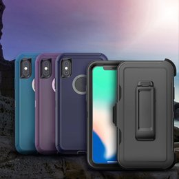 Defender Case Iphone Quality Australia - Wholesale High Quality 3 in 1 Hybrid Robot TPU Defender series Armor Case Cover For iPhone X Xr Xs Max 8 7 6 6S Plus Free DHL Delivery
