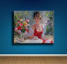 Nude Girl Oil Painting Arts Australia - (Unframed Framed) Konstantin Razumov Girl,1 Pieces Canvas Prints Wall Art Oil Painting Home Decor 18X24. #19