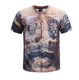 8c51c03bd hot sell tshirts lion muscle tattoo 3D printing man top shirts Tees tops boys  mens shirts t 3d print t shirt