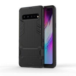 China For Samsung S10 S10E S10Plus Hard Rugged Armor Phone Case For Samsung S10(5G) PC+TPU Rubber Shockproof Phone Cover Case With Kickstand suppliers