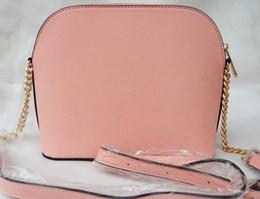 Bag Shells Australia - Free shipping wholesale 2019 new handbag cross pattern PU synthetic leather shell bag chain bag shoulder Messenger bag small fashionista
