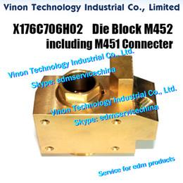 Block C Australia - X176C706H02 HA Brass Die Block M452 Upper including M451 Connecter X179D323H02 for Mitsubishi F1,G,H,H1,C,HA machine X176C706G02