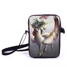 33ff8d75ab15 Cartoon Unicorn Printing Messenger Bag Animal Horse Mini Crossbody Bags  Women Handbag Children Gift Shoulder Bag Kids Book Bags