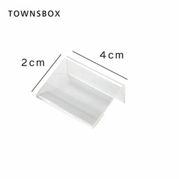 $enCountryForm.capitalKeyWord UK - Mini Sign Display Holder L Shape Clear Acrylic Price Card Tag Label Stand Counter Top Stand 4x2cm small Jewelry price tag