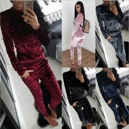 $enCountryForm.capitalKeyWord UK - 5 Colors Nice Winter Tracksuit Women Clothing Hoodies Sets Casual Long Sleeve Sport Suit Velour Sweatshirt+Pants FS5826