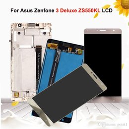 "asus zenfone screen UK - 5.5"" LCD For Asus Zenfone 3 Deluxe ZS550KL Z01FD Display Screen Touch Digitizer Assembly LCD with Frame Replacement Parts"