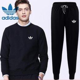 $enCountryForm.capitalKeyWord NZ - Wholesale-2018 New Arrive Winter Tracksuits Hooded Men Male Hoodies Sport Suits Fur Lining Jacket Pants and Sweatshirt Set Free shipping