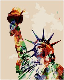 "Statue Liberty Paintings Australia - Oil Paint Kits Paint Adult Hand Painted DIY Painting By Numbers-Statue of Liberty 16""x20"""