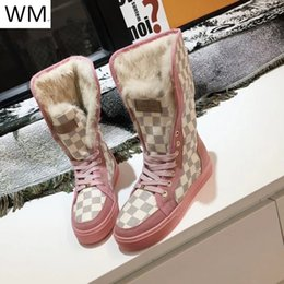 $enCountryForm.capitalKeyWord Australia - Duping520 Hot Classic Pink Plush Boots Riding Rain Boot Boots Booties Sneakers Dress Shoes