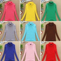 Wholesale cotton turtleneck tee shirts for sale - Group buy Fall Winter Fashion Long Sleeve Turtleneck Tops Cotton Slim Fit T Shirt Casual Women Sexy Stretchy Shirt Ladies Basic Tee