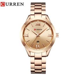 Luxury Fashion Brand Quartz Watch Australia - Jewelry Gifts For Women's Luxury Gold Steel Quartz Watch Curren Brand Women Watches Fashion Ladies Clock Relogio Feminino 9007 J 190505