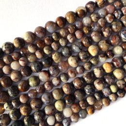 Brown gemstone Beads online shopping - Natural Genuine Namibia Brown Pietersite Stone Round Loose Gemstone Stone Necklace Bracelet Beads mm quot