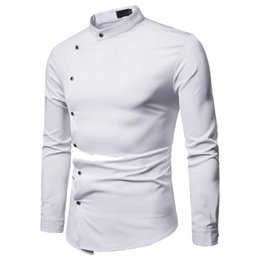 Long Collared Shirts Men Australia - 2019 New Men Shirts Business Long Sleeve Turn-down Collar Cotton Male Shirt Slim Fit Popular Designs Casual Camisa Masculina 5