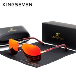 $enCountryForm.capitalKeyWord NZ - Kingseven 2019 Aluminum Magnesium Men's Sunglasses Polarized Men Coating Mirror Glasses Male Eyewear Accessories For Men Oculos Y19052001