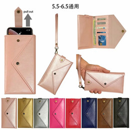 $enCountryForm.capitalKeyWord Australia - Envelope Leather Case For Iphone 11 XS MAX XR X 10 8 7 Galaxy S10 S10e Note 10 9 3 Wallet Folds ID Fashion Purse Hand bag Card Slot Lanyard