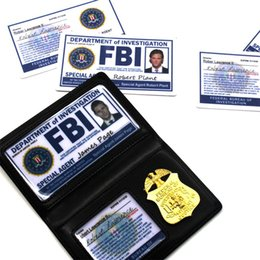 Supernatural Dean Sam1 Winchester FBI Badge Card Holder Police ID Cards Cosplay on Sale