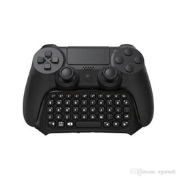 $enCountryForm.capitalKeyWord Australia - Hot Sale 1Pc Wireless Bluetooth Chatpad Message Keyboard for Sony for PlayStation 4 for PS4 Controller Black